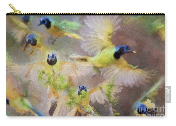 Green Jay Collage Carry-all Pouch