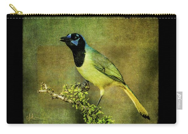 Green Jay With Textures Carry-all Pouch