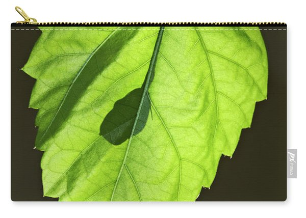 Green Hibiscus Leaf Carry-all Pouch
