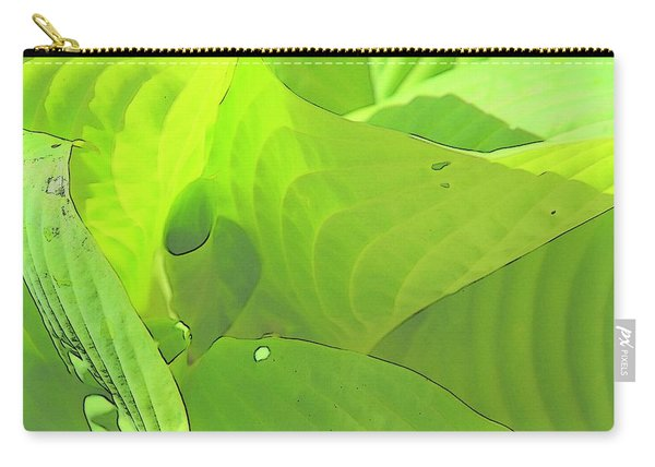 Green Leaves Sketch 2 Carry-all Pouch