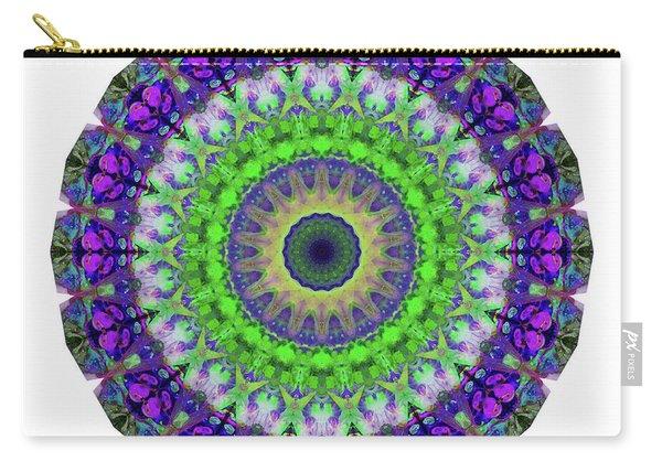 Green Light Mandala Art By Sharon Cummings Carry-all Pouch