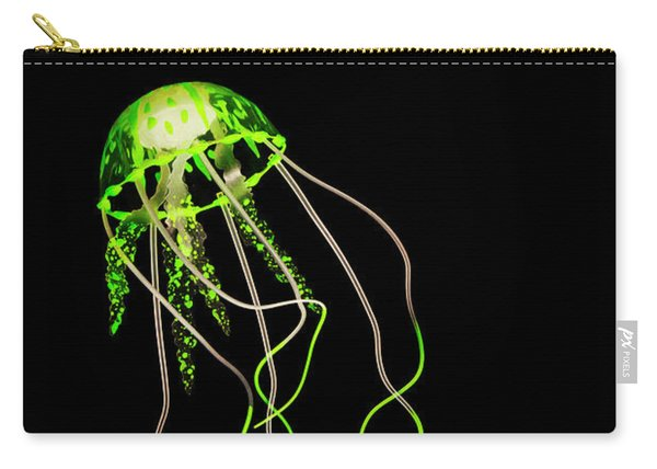 Green Neon Jellyfish Carry-all Pouch