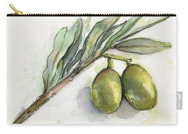 Green Olives On A Branch  Carry-all Pouch