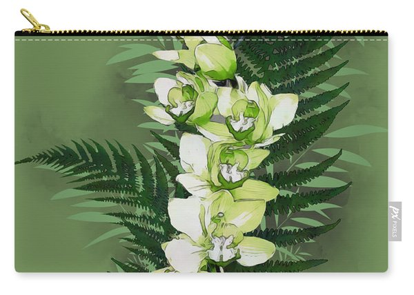 Green Orchid Carry-all Pouch