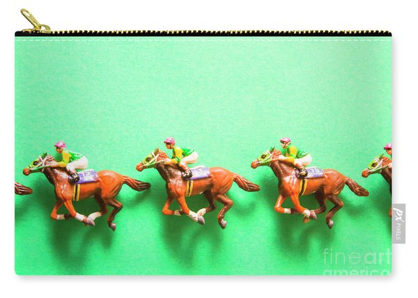 Green Paper Racecourse Carry-all Pouch
