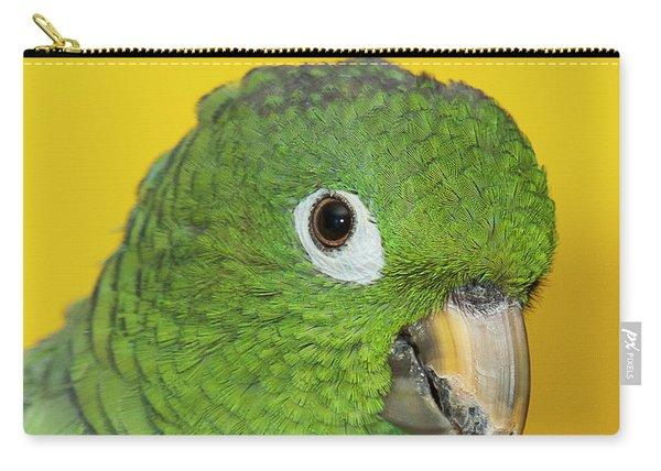Green Parrot Head Shot Carry-all Pouch