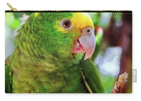 Green Parrot Carry-all Pouch