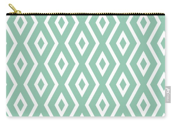 Light Sage Green Pattern Carry-all Pouch