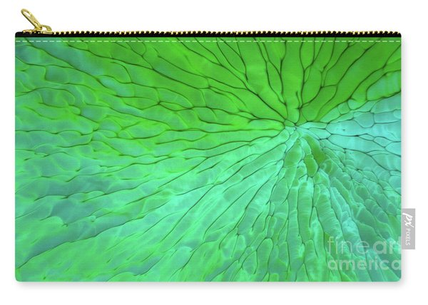Green Pattern Under The Microscope Carry-all Pouch