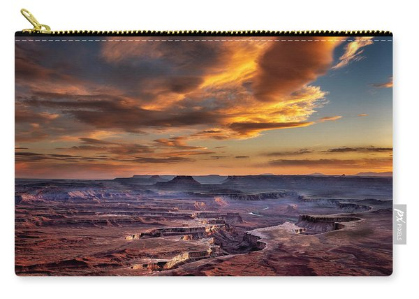 Green River Overlook At Sunset Carry-all Pouch