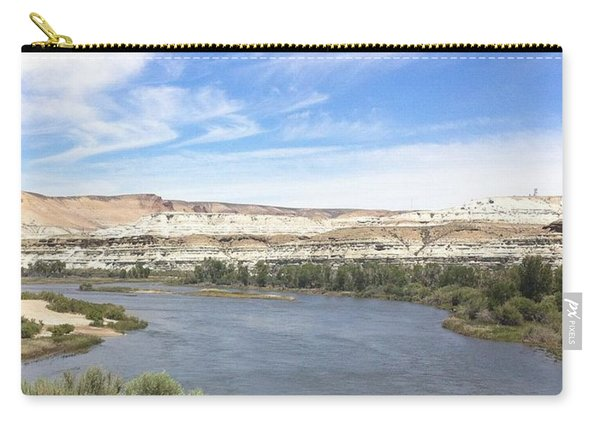 Carry-all Pouch featuring the photograph Green River Wyoming - 2  by Christy Pooschke