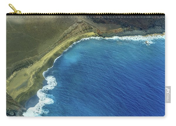 Green Sand Beach Aerial Carry-all Pouch