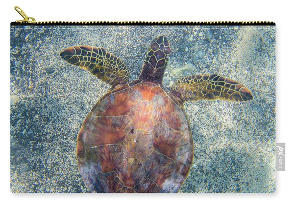 Green Sea Turtle From Above Carry-all Pouch