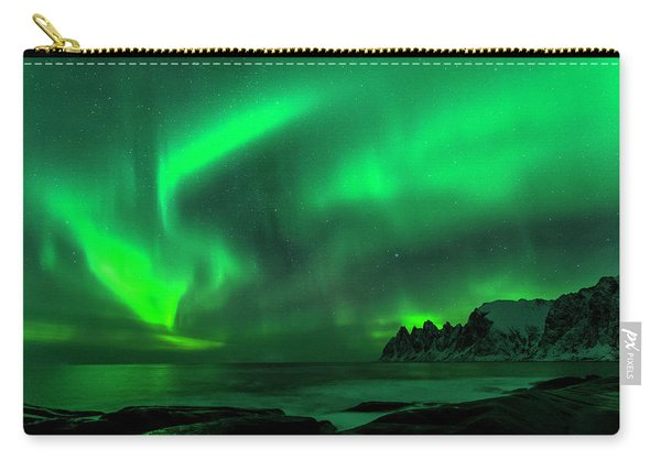Green Skies At Night Carry-all Pouch