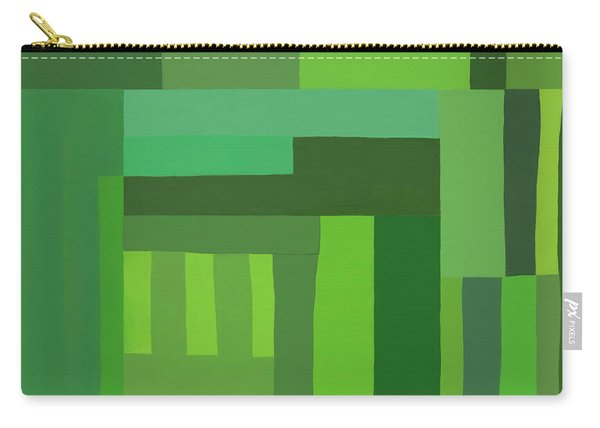 Green Stripes 3 Carry-all Pouch