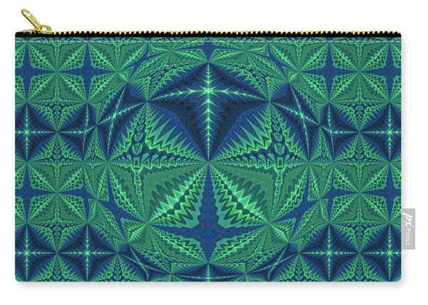 Green Symmetrical Pattern, Kaleidoscope Carry-all Pouch