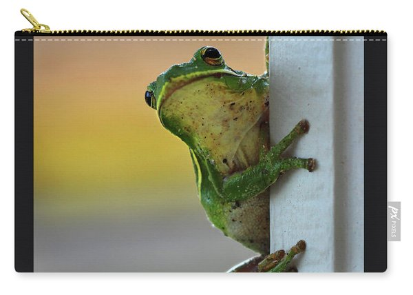 Green Tree Frog  It's Not Easy Being Green Carry-all Pouch