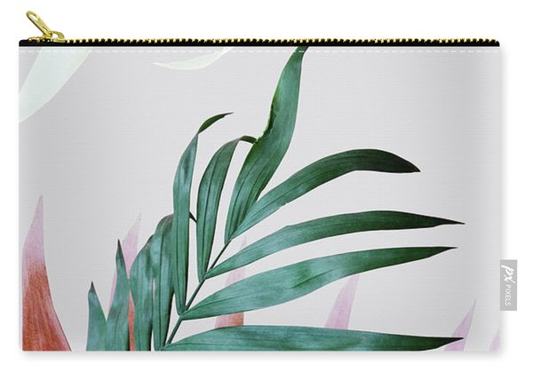 Green Tropical Leaves, Fern Plant Carry-all Pouch