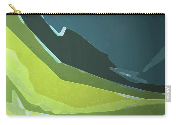 Carry-all Pouch featuring the digital art Green Valley by Gina Harrison