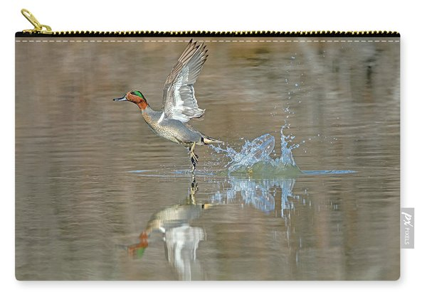 Green-winged Teal Duck Carry-all Pouch