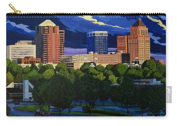 Greensboro Skyline In The Sunshine Carry-all Pouch