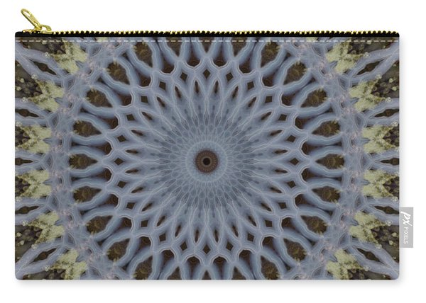Grey And Yellow Mandala Carry-all Pouch