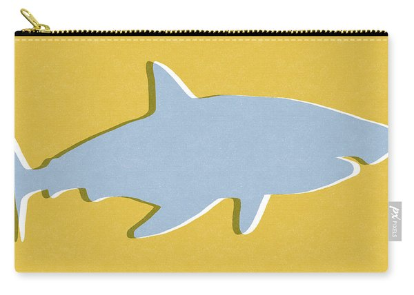 Grey And Yellow Shark Carry-all Pouch