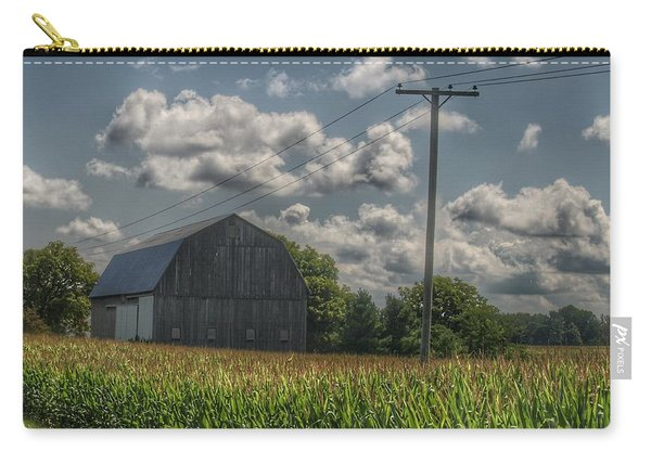 0013 - Grey Barn In A Cornfield Carry-all Pouch