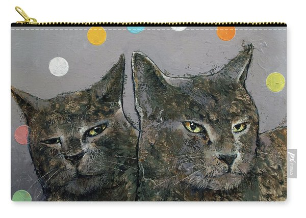 Grey Cats Carry-all Pouch
