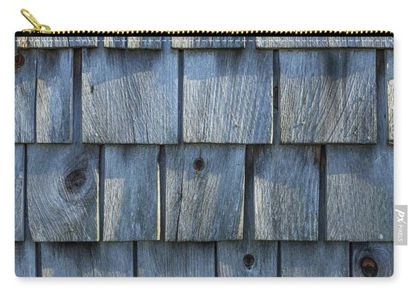 Grey Cedar Shingles On An Old Barn Carry-all Pouch