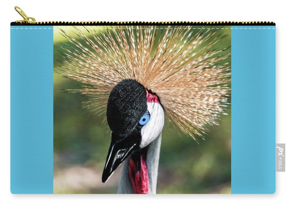 Grey Crowned Crane Gulf Shores Al 2041 Carry-all Pouch