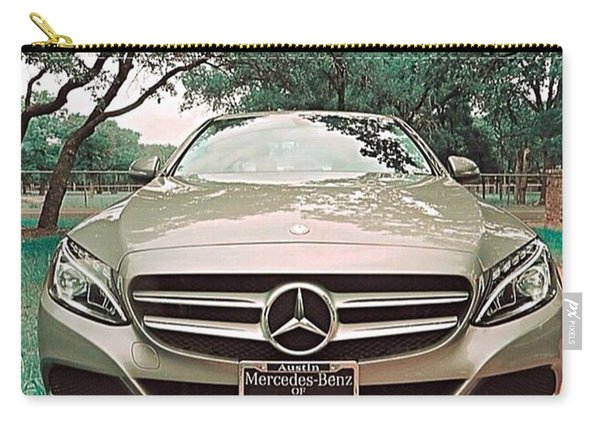 #grey #sky And A #silver Grey #car Carry-all Pouch