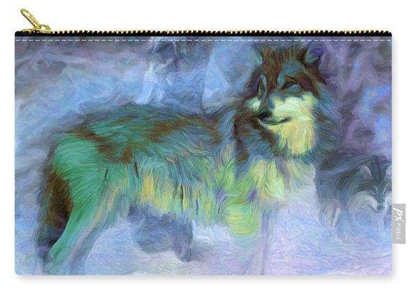 Grey Wolves In Snow Carry-all Pouch