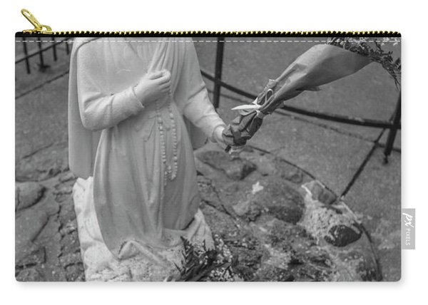 Grotto Of Our Lady Of Lourdes Statue  Carry-all Pouch