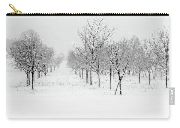 Grove Of Trees In A Snow Storm Carry-all Pouch