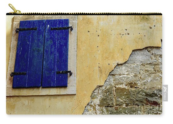 Groznjan Istrian Hill Town Stonework And Blue Shutters  - Istria, Croatia Carry-all Pouch