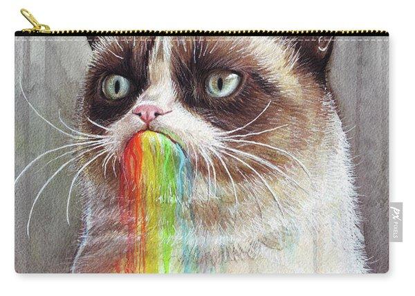 Grumpy Cat Tastes The Rainbow Carry-all Pouch