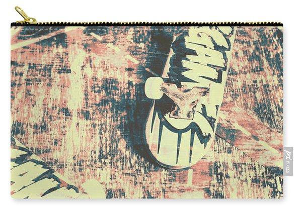 Grunge Skateboard Poster Art Carry-all Pouch
