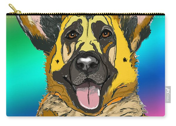 Gsd In Digi Yellow Carry-all Pouch