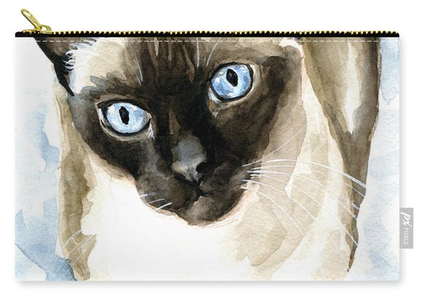 Guardian Angel - Siamese Cat Portrait Carry-all Pouch