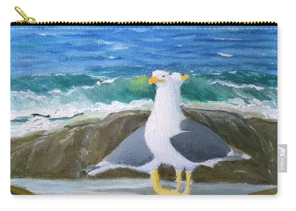 Guarding The Land And Sea Carry-all Pouch