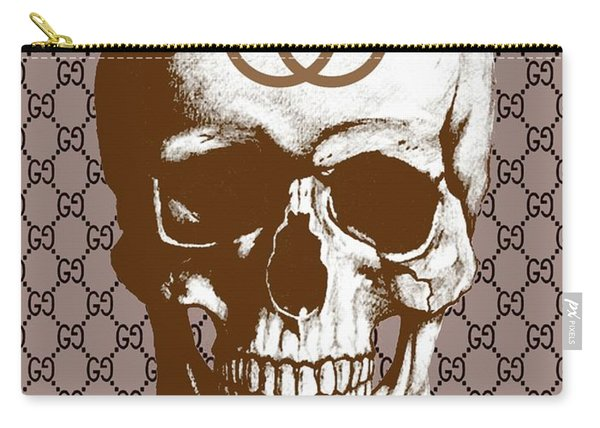Gucci Poster Gucci Print Gucci Skull Brown Print Carry-all Pouch