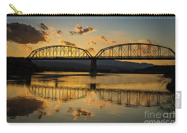 Guffey Bridge At Sunset Idaho Journey Landscape Photography By Kaylyn Franks Carry-all Pouch