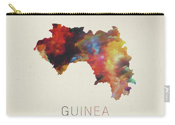 Guinea Watercolor Map Carry-all Pouch