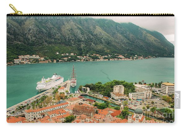 Gulf Of Kotor With Cruise Liner Carry-all Pouch