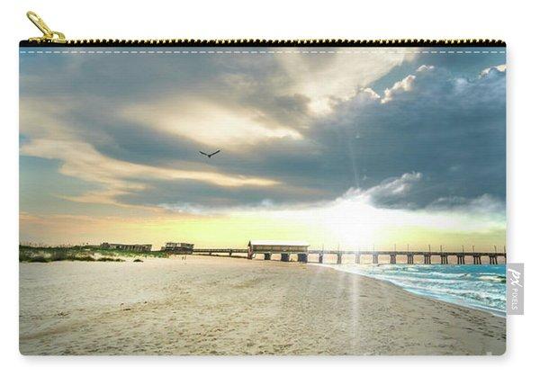 Gulf Shores Al Pier Seascape Sunrise 152a Carry-all Pouch