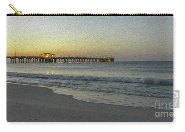 Gulf Shores Alabama Fishing Pier Digital Painting A82518 Carry-all Pouch