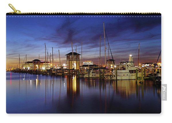 Gulfport Harbor At Dusk - Lighthouse - Mississippi Carry-all Pouch