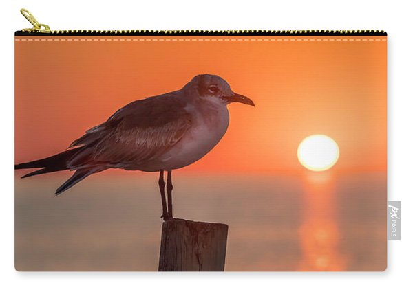 Gull And Sunset Carry-all Pouch
