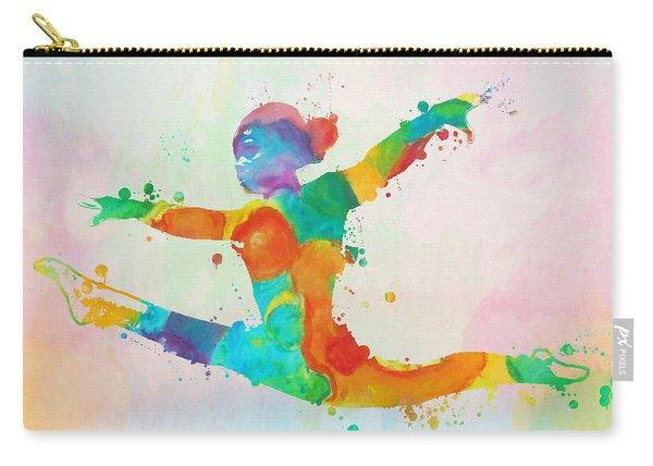 Gymnast Leap Paint Splatter Carry-all Pouch